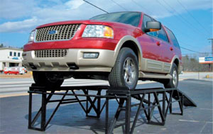 Box Horizontal Car Display Ramps