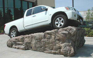 Faux Rock Car Ramp
